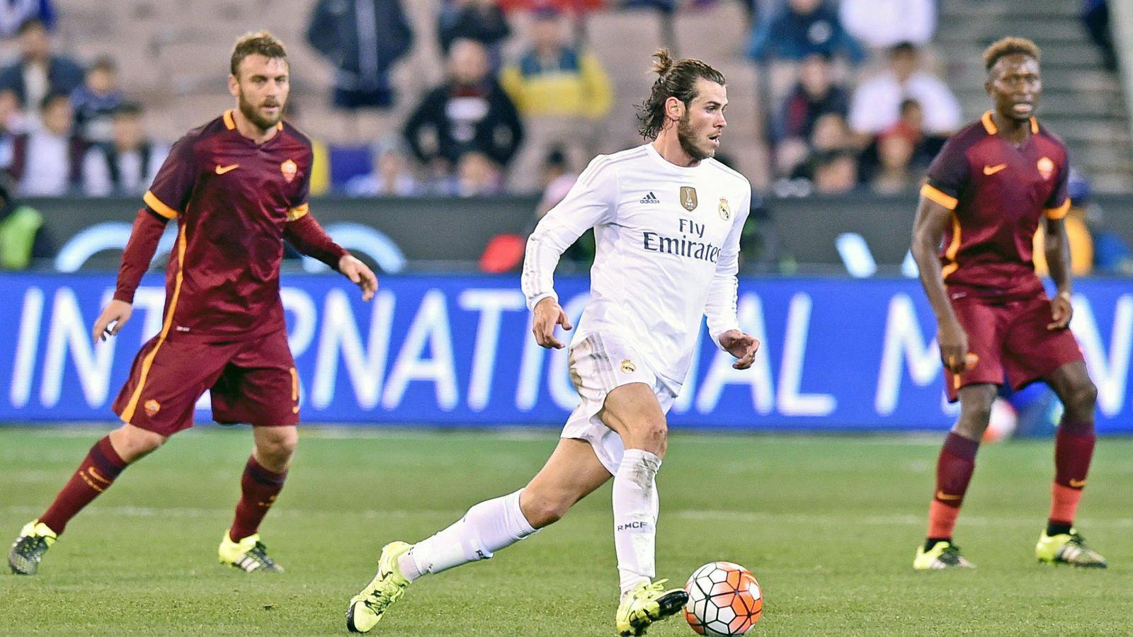 Foto: Gareth Bale, durante el amistoso que el Real Madrid disputó con la Roma (EFE)