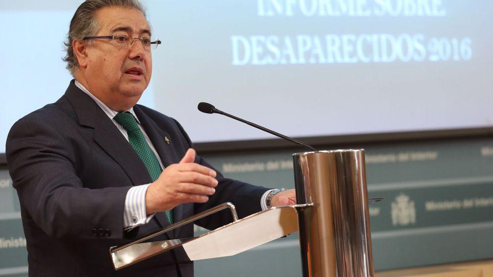 Foto: El ministro del Interior, Juan Ignacio Zoido, durante una comparecencia en el Ministerio. (EFE)