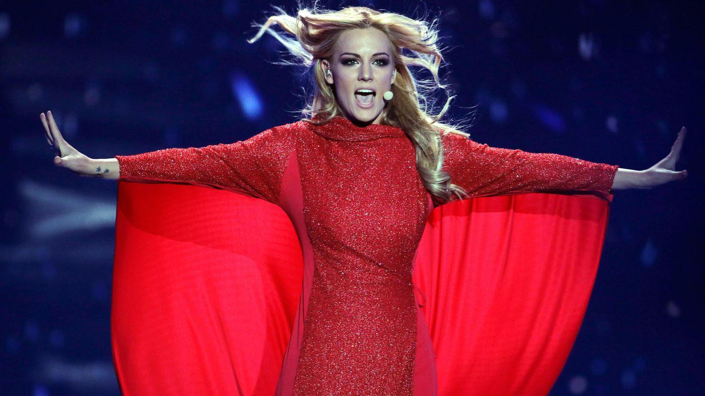 Foto: La cantante Edurne durante el ensayo final antes de actuar en Eurovisión (Gtres)