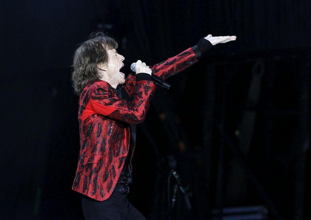 Foto: Mick Jagger durante su bolo madrileño (EFE)