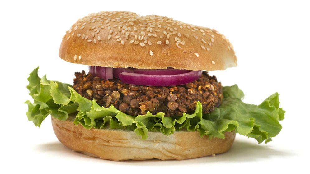 Foto: Hamburguesa a base de la legumbre. (iStock)