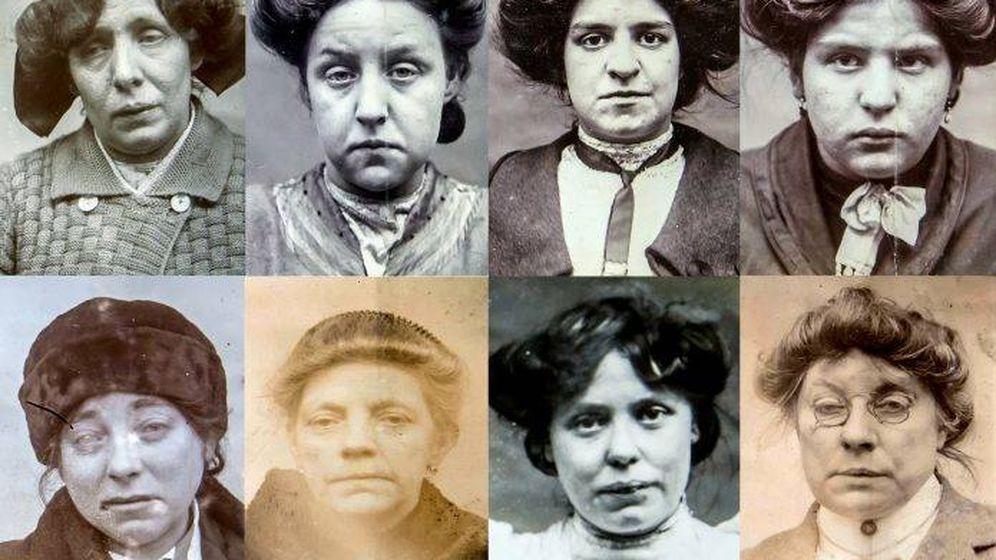 Foto: Collage con las fotos de todas las detenidas. (Swns.com)