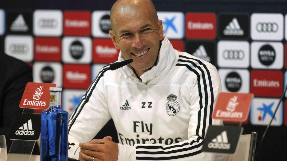 Foto: Zidane atendió este domingo a los medios en la rueda de prensa previa al Leganés-Real Madrid. (EFE)