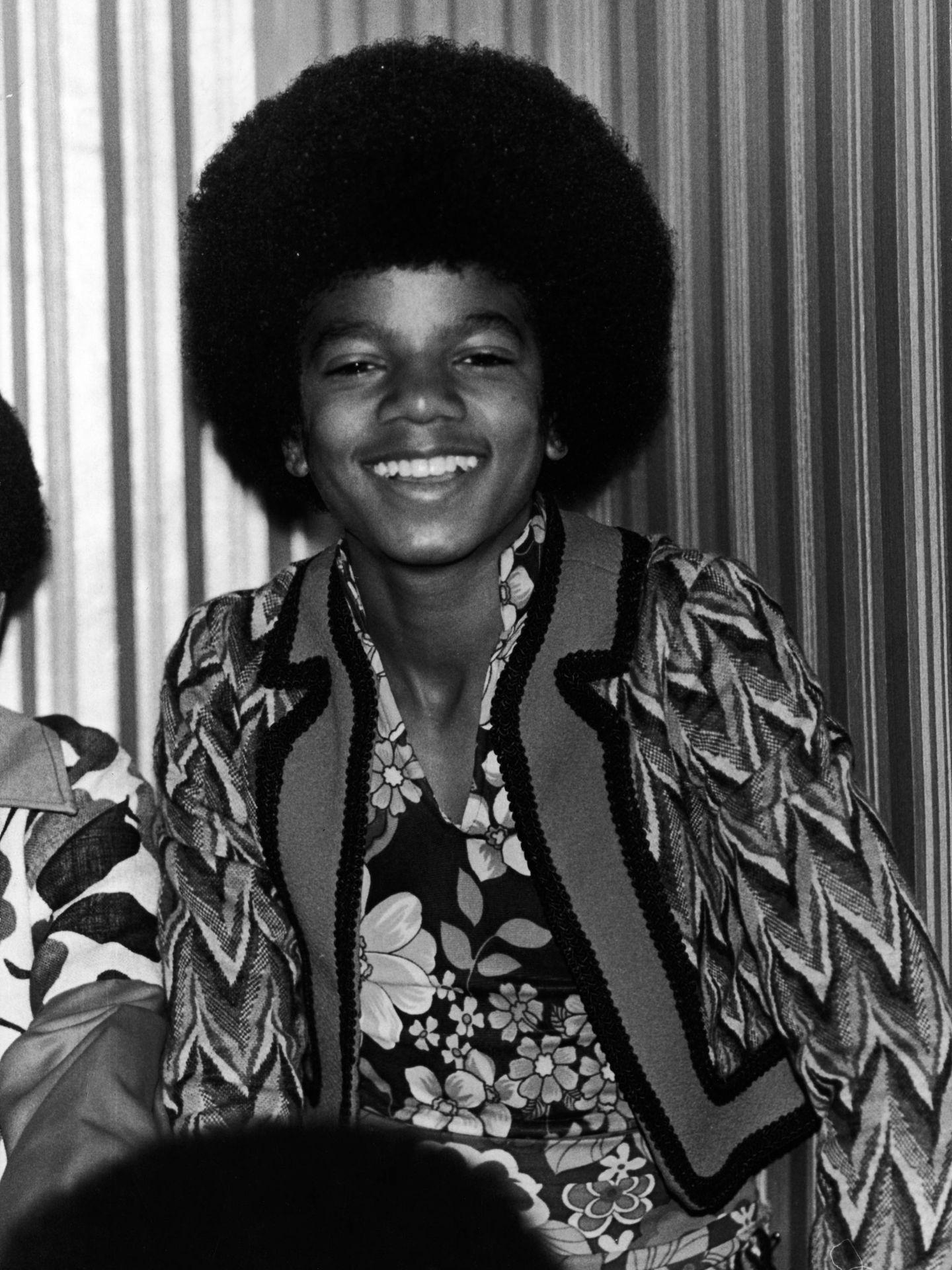 Michael, de gira en Londres con los Jackson Five en 1972. (Getty)