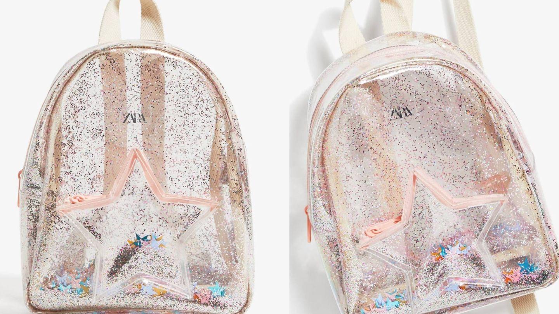 Mochila de la nueva colección de Zara Kids. (Cortesía)
