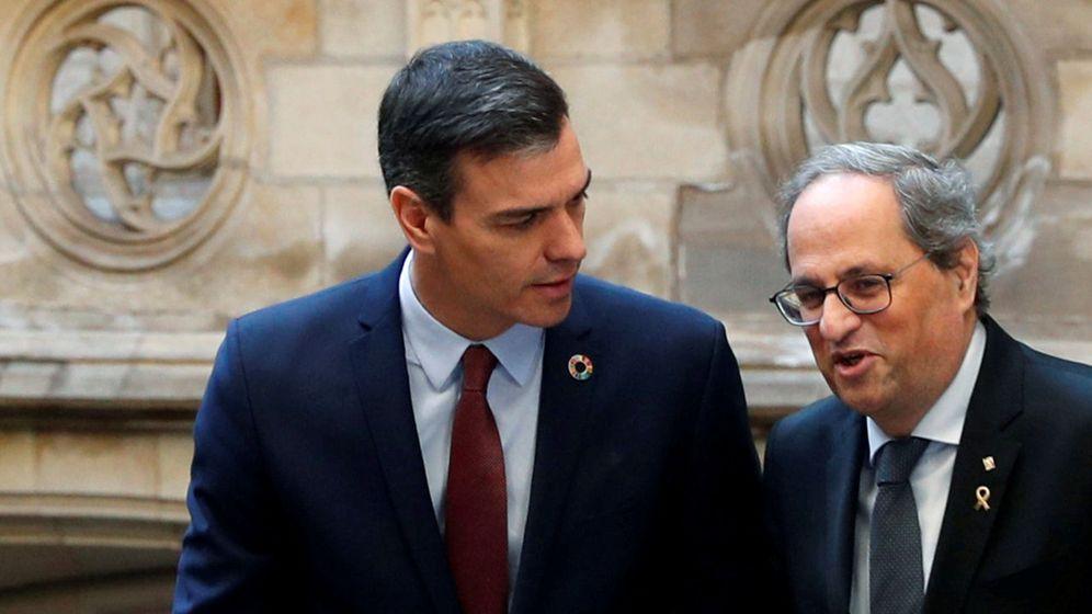 Foto: Pedro Sánchez y Quim Torra, hoy (Reuters)