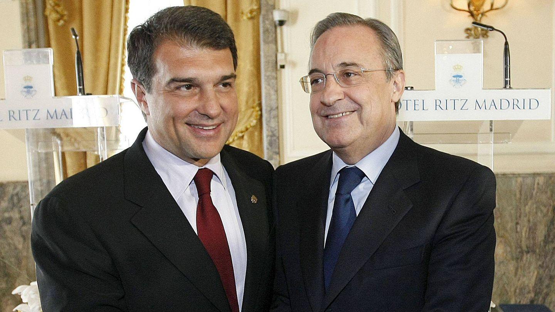 Laporta y Florentino, en una imagen de archivo. (EFE)