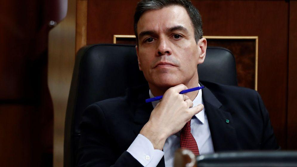 Foto: Pedro Sánchez, el jueves en el Congreso. (EFE)