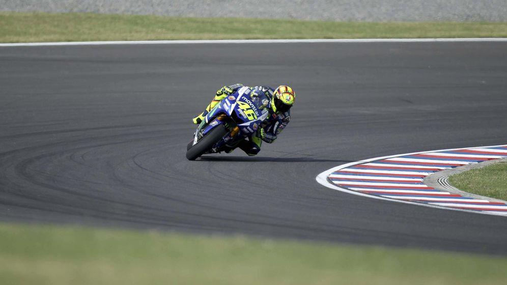Foto: Valentino Rossi se lleva el Gran Premio de la República Argentina (Efe).