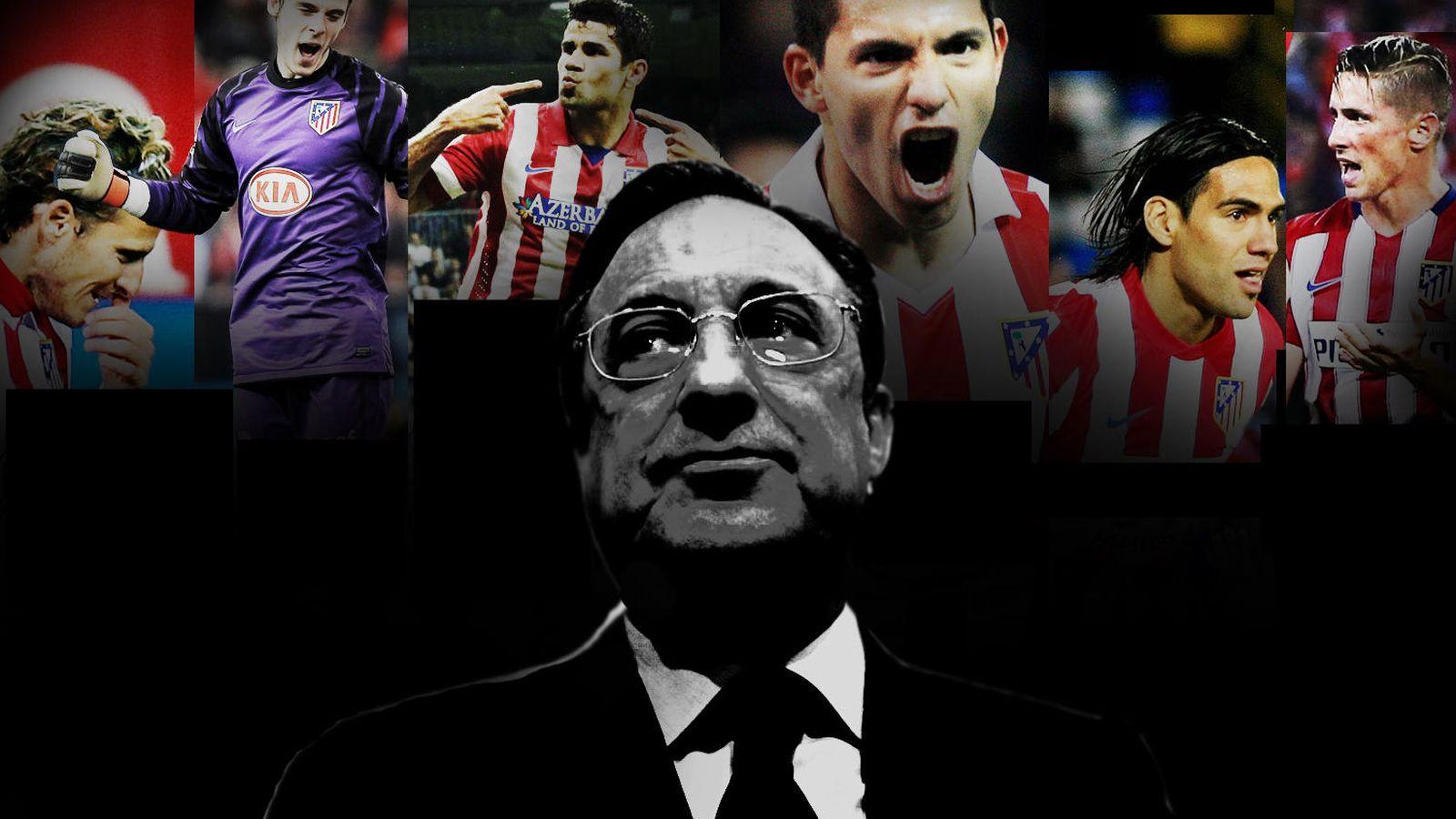 Foto: De izq. a derecha: Forlán, De Gea, Diego Costa, Agüero, Falcao y Torres. (EC)