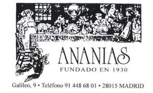 Ananías, comer como en casa