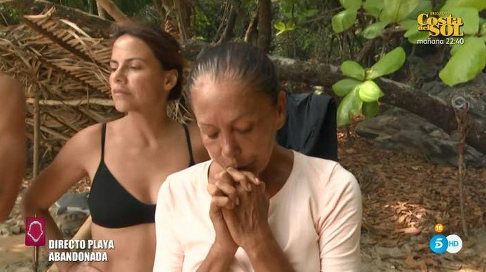 Foto: Isabel Pantoja amenazando con abandonar 'Supervivientes 2019'. (Telecinco)