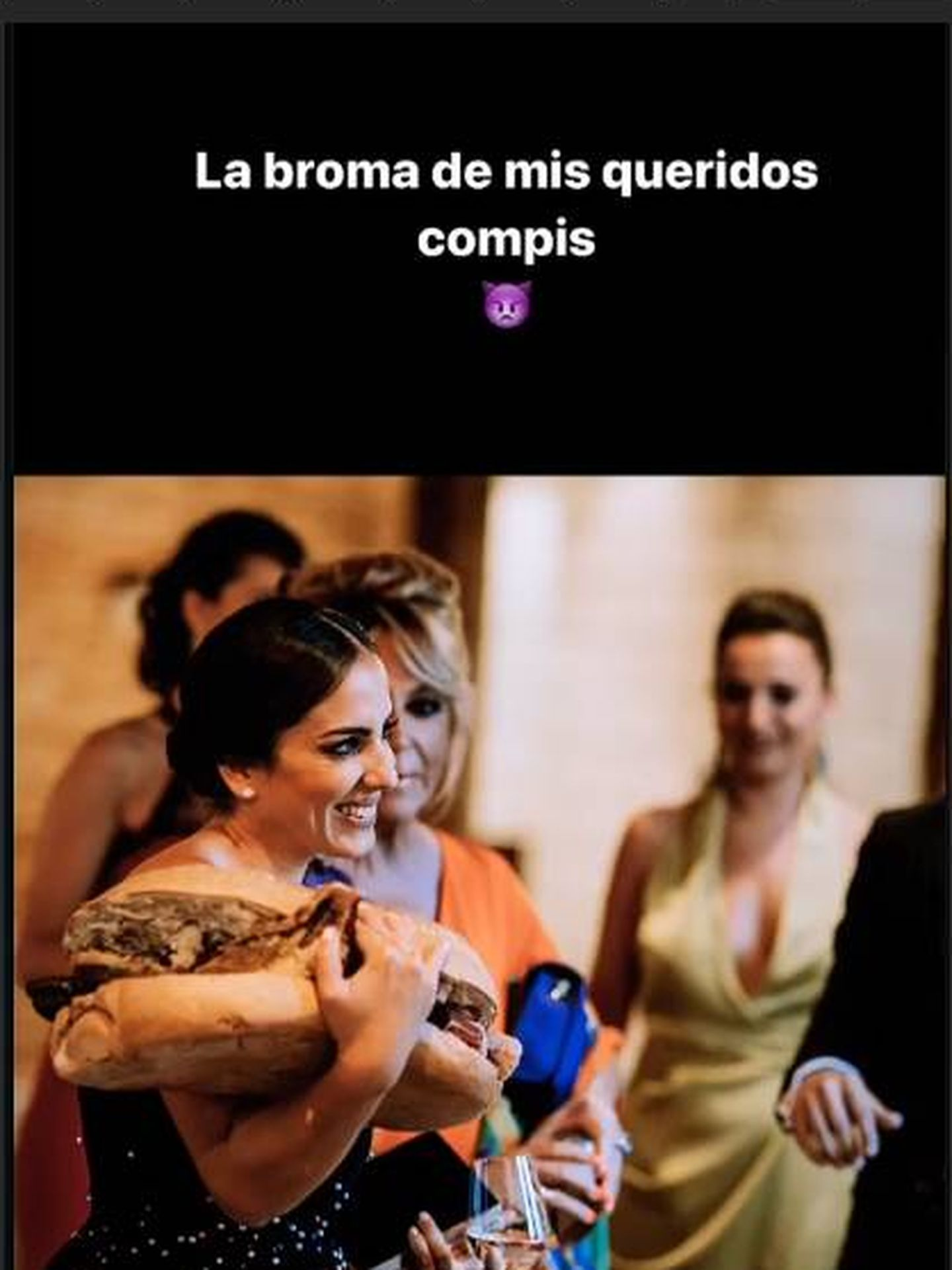 Anabel Pantoja en la boda de Belén Esteban. (IG)