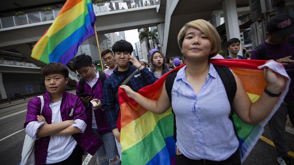 Foto: Marcha del Orgullo Gay 2018 en Hong Kong, China