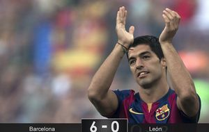Munir se cuela en la gran fiesta de Luis Suárez firmando otro doblete