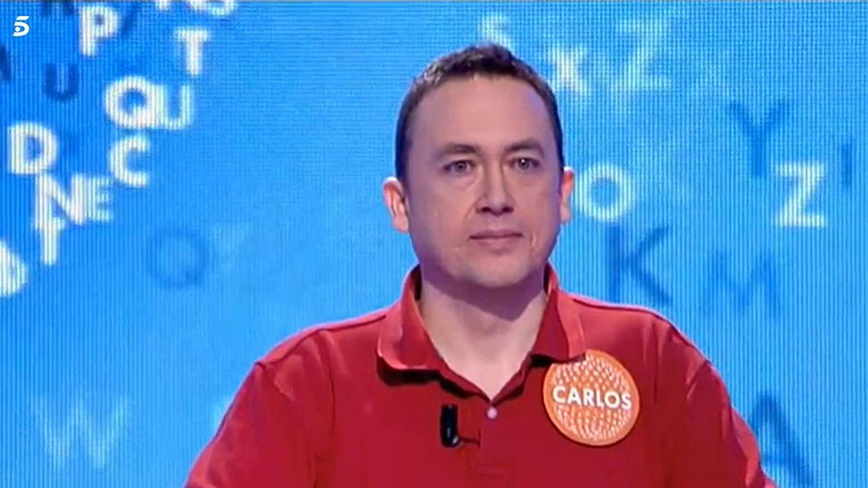 Carlos Adán, dos días antes de llevarse el rosco de 'Pasapalabra'. (Mediaset)
