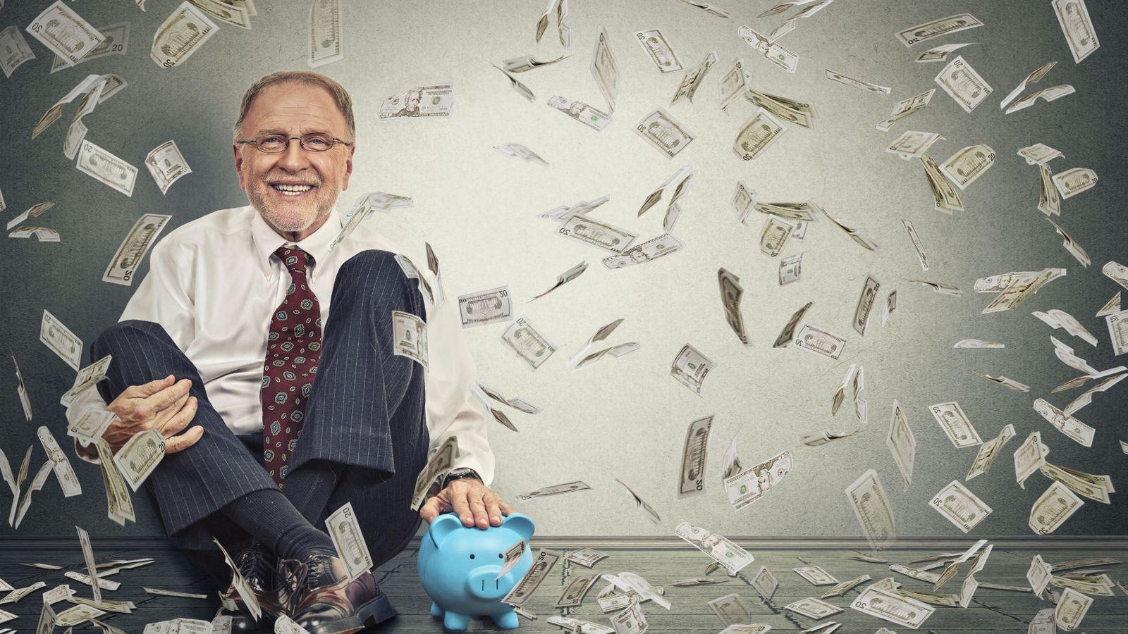 Foto: A este hombre el dinero le cayó del cielo y ahora nunca lleva paraguas. (iStock)