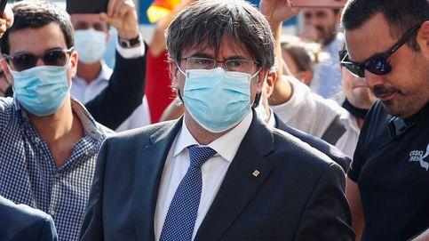 Vídeo | El 'expresident' Puigdemont atiende a los medios tras su comparecencia ante el juez en Cerdeña