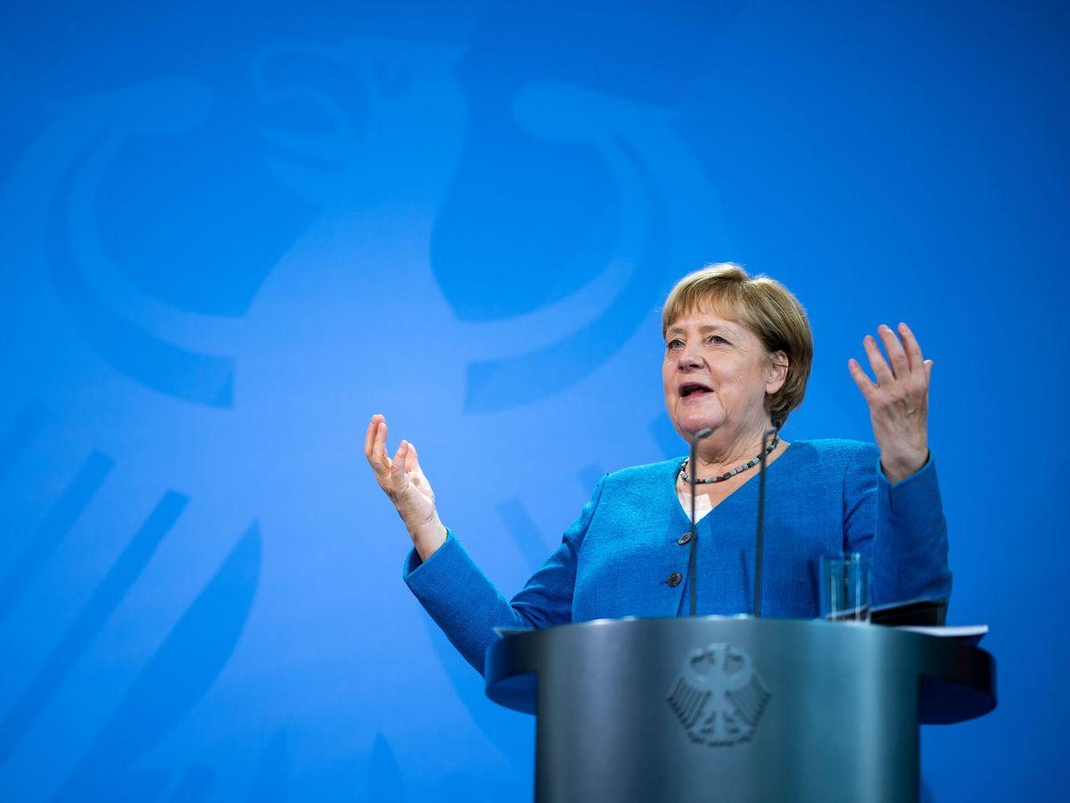 Foto: Angela Merkel pronuncia un discurso. (Reuters)