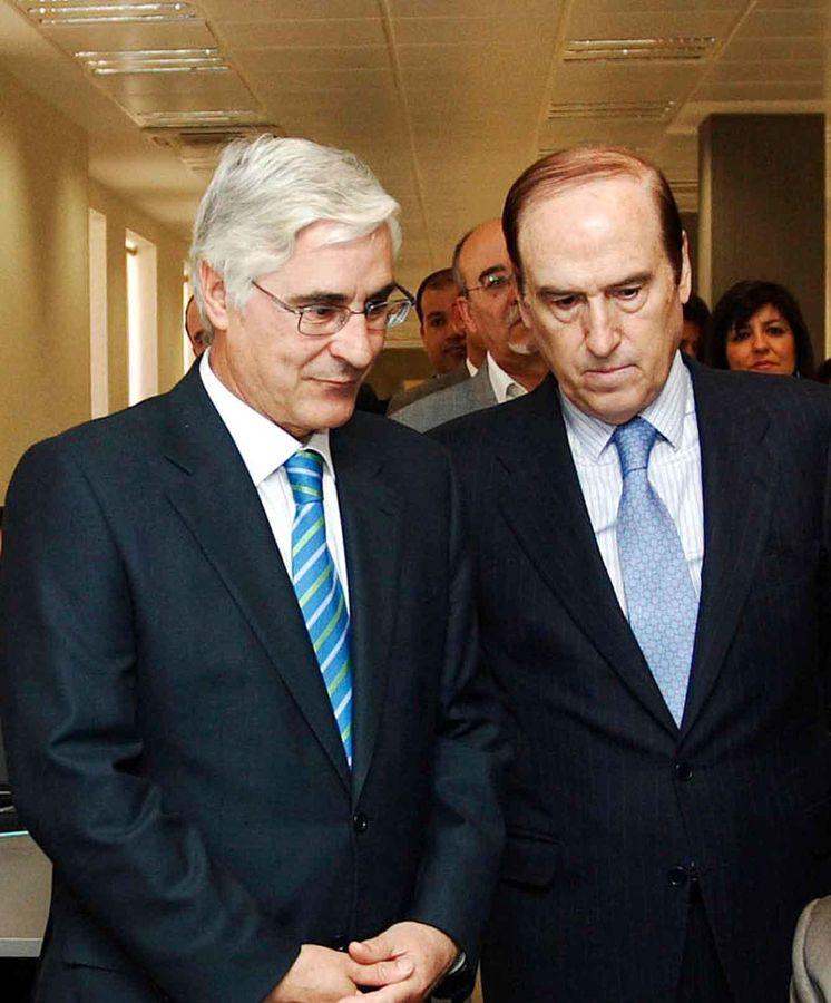 Foto: Florencio Lasaga (d), presidente de la Fundación Ramón Areces. (JCLM)