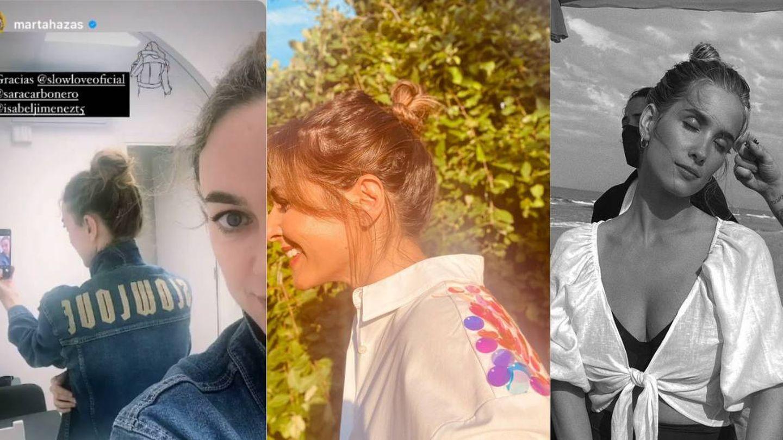 Marta Hazas, Nuria Roca y María Pombo,  con el moño de la temporada. (Instagram)