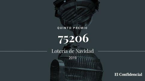 Primer quinto premio de la lotería de Navidad: el 75206 deja 6.000 euros al décimo