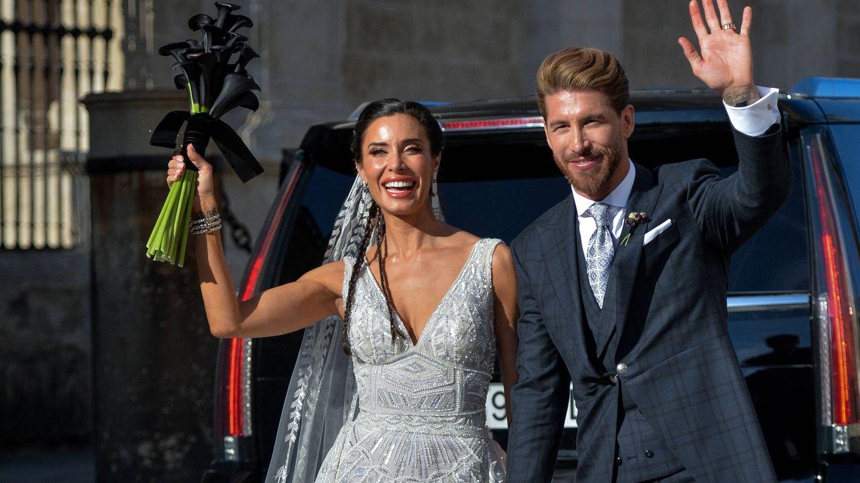Una imagen de la boda de Pilar Rubio y Sergio Ramos. (Getty)