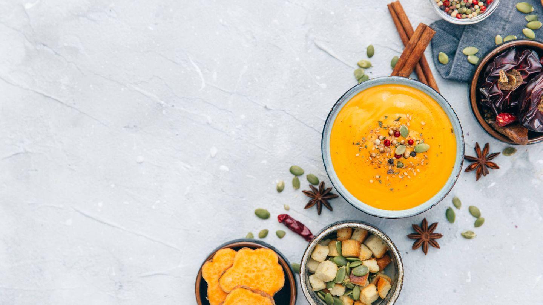 La crema de zanahoria y calabaza, una buena fuente de fibra. (Foto: iStock)