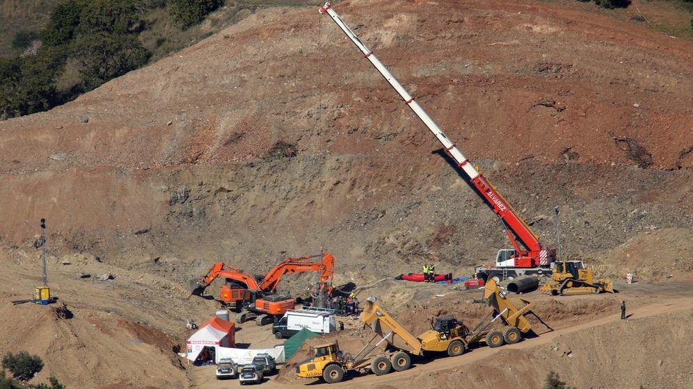 Foto: Excavación de la galería horizontal el pasado 25 de enero. (EFE)