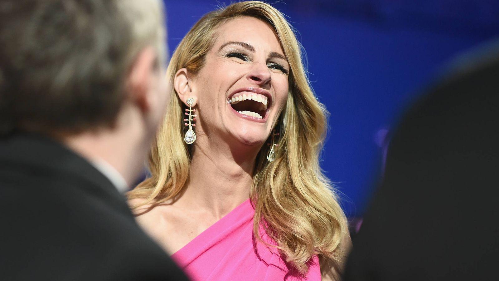 Foto: Julia Roberts durante los Premios de la Academia de 2019. (Getty)