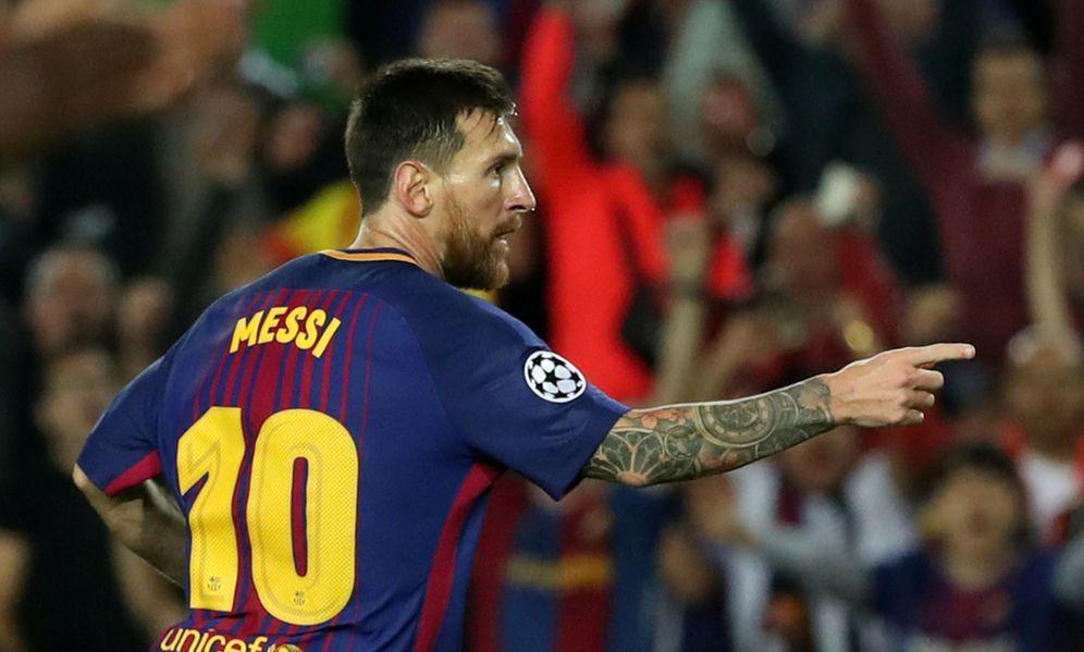 Foto: Messi celebra uno de los dos goles marcados ante la Juventus. (Reuters)