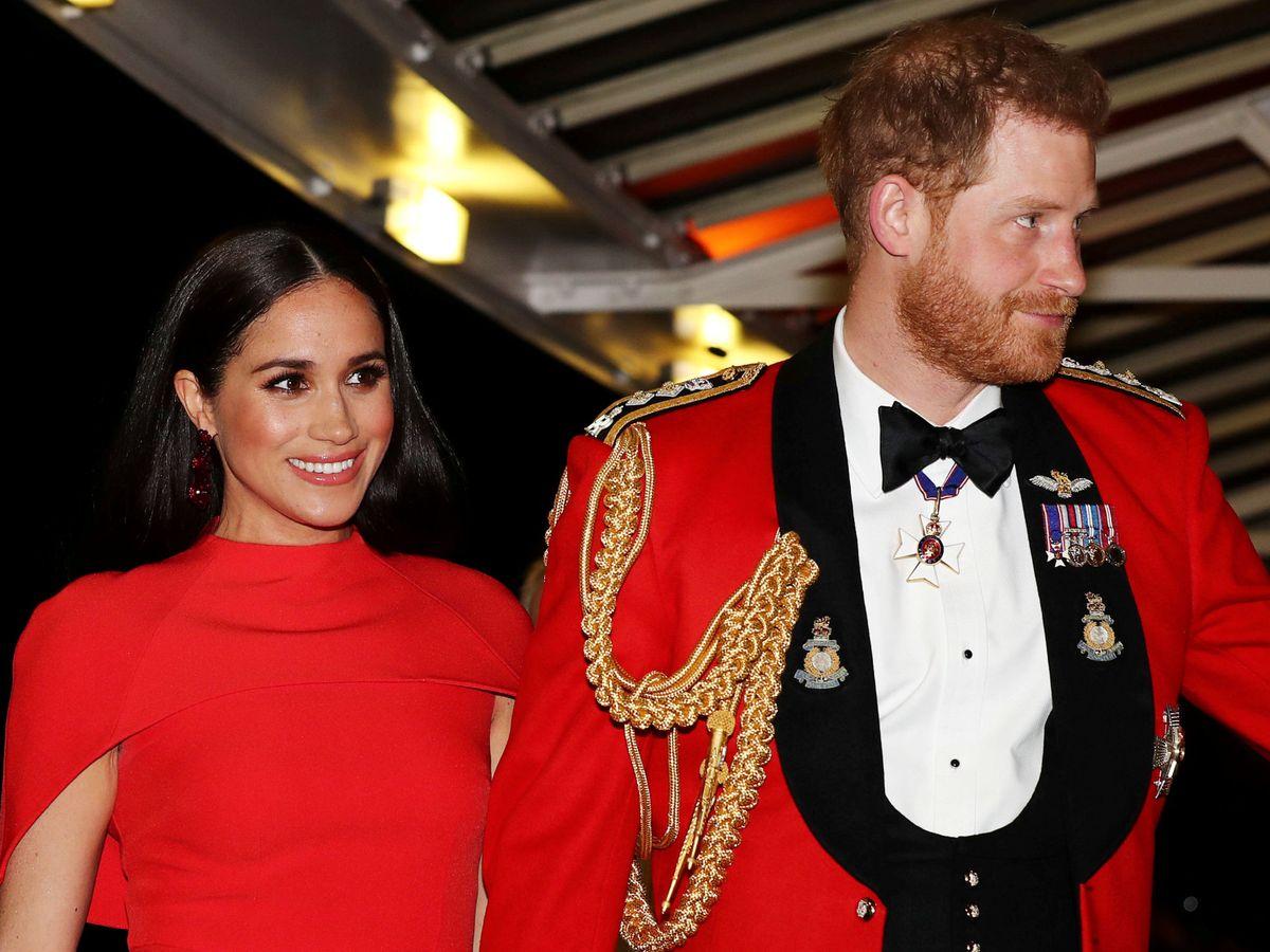 Foto: Los duques de Sussex, en uno de sus últimos compromisos oficiales. (Reuters)