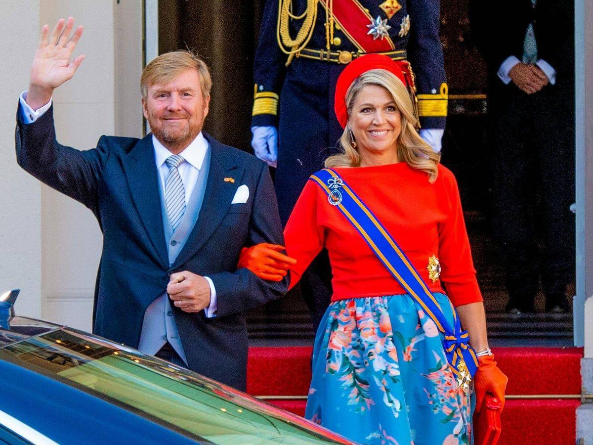 Foto: Los reyes de Holanda en el Prinsjesdag. (CP)