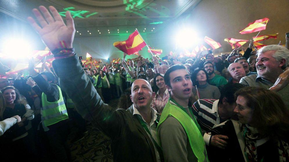 Foto: Vox celebra los resultados en las elecciones de Andalucía (EFE)