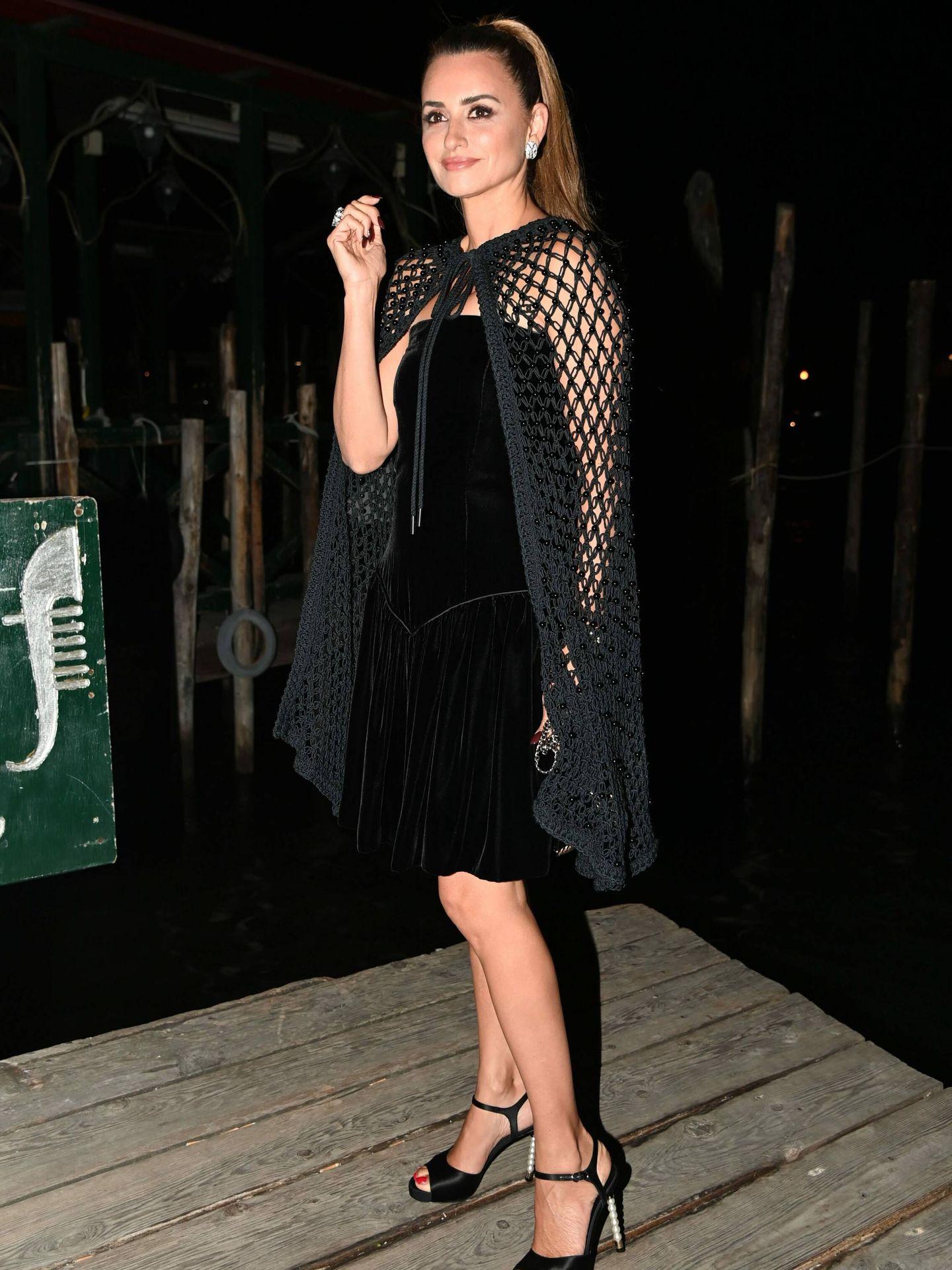 Penélope Cruz, en Venecia en la fiesta de Yves Saint Laurent. (Cordon Press)