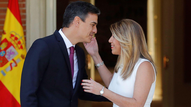 Pedro Sánchez y Susana Díaz. (EFE)