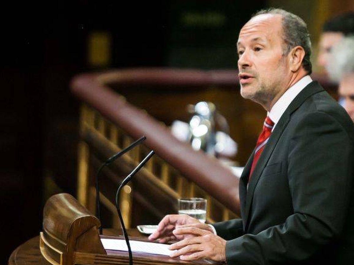 Foto: Juan Carlos Campo, nuevo ministro de Justicia, en el Congreso de los Diputados. (EFE)