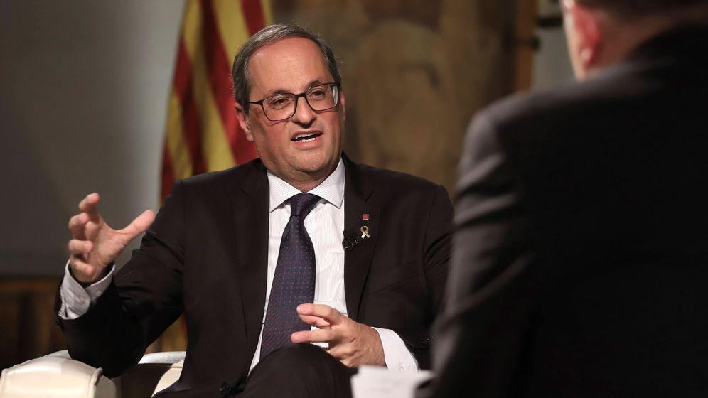 Foto: Entrevista del presidente de la Generalitat, Quim Torra, en TV3. (EFE)