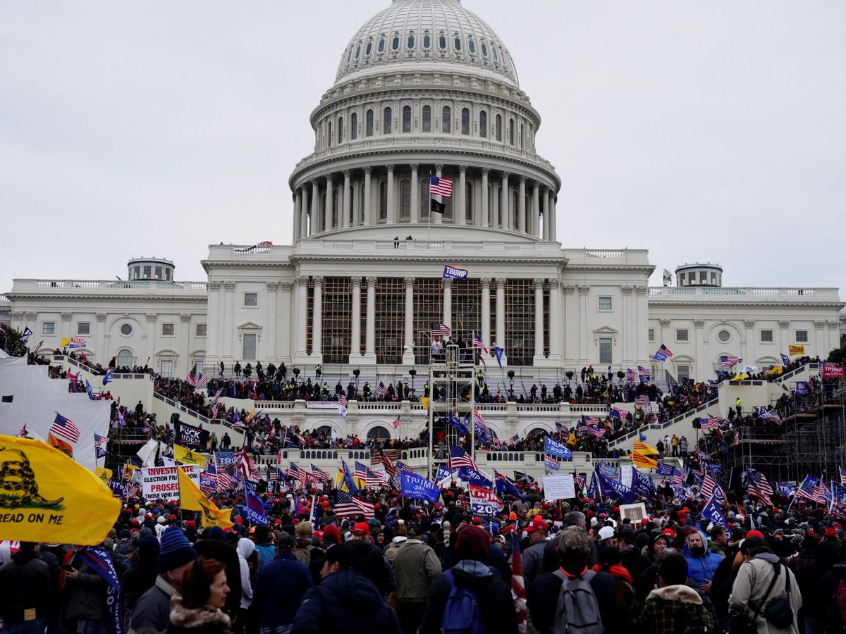Foto: Asalto al Capitolio, el 6 de enero de 2021. (EFE)