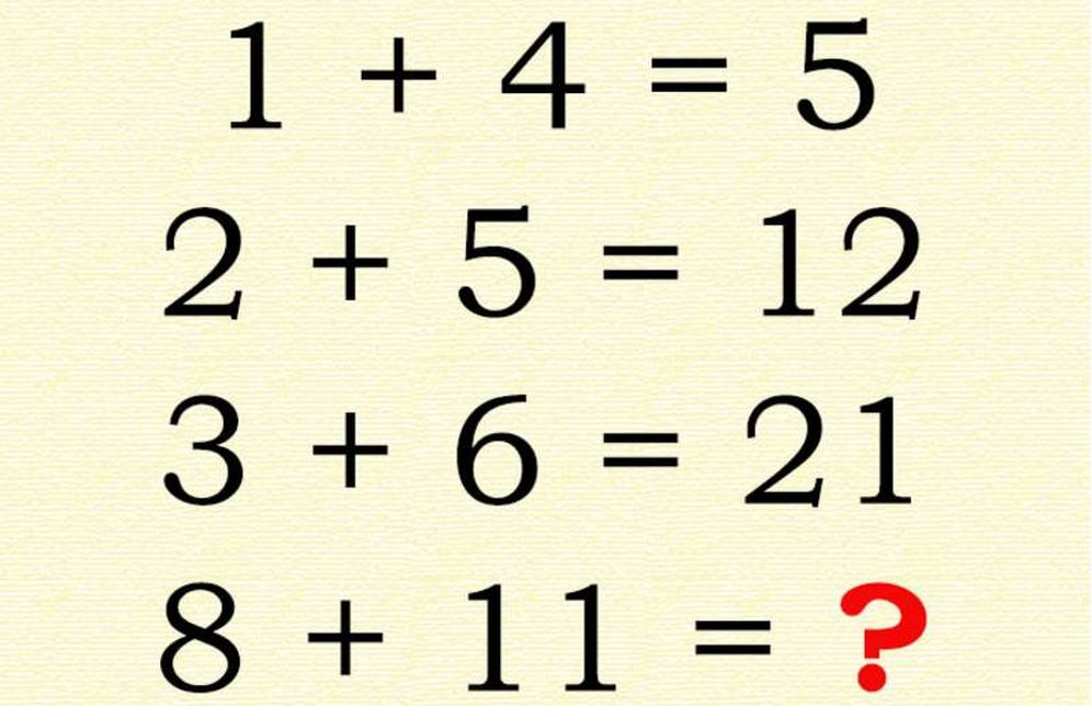 Foto: Cuatro sumas y dos modos de resolver el ejercicio. (Wikr)