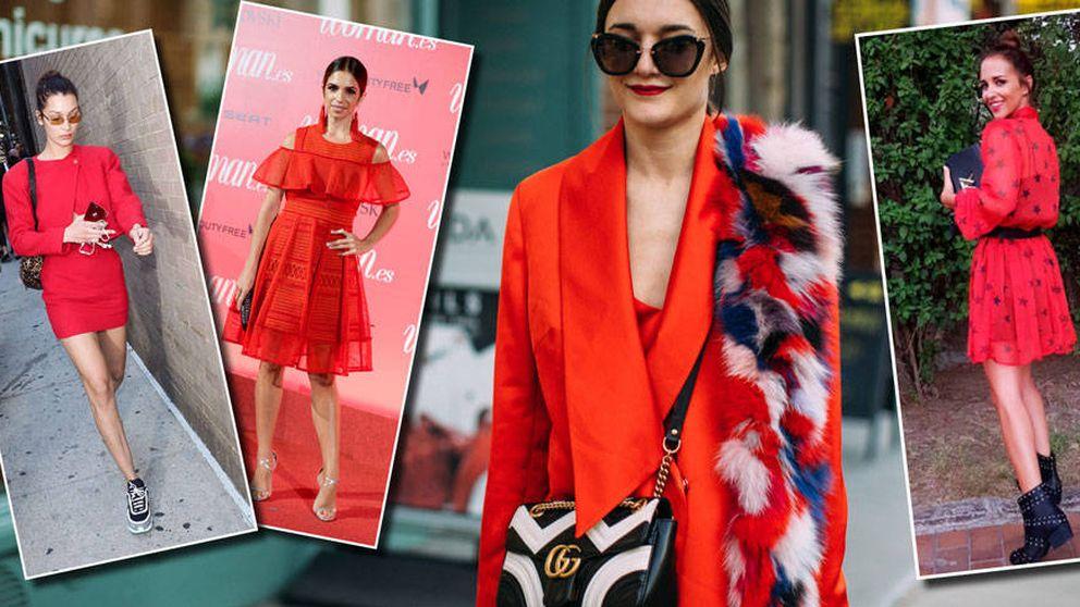 De Paula Echevarría a Gigi Hadid, trucos para vestir de rojo como una  estrella