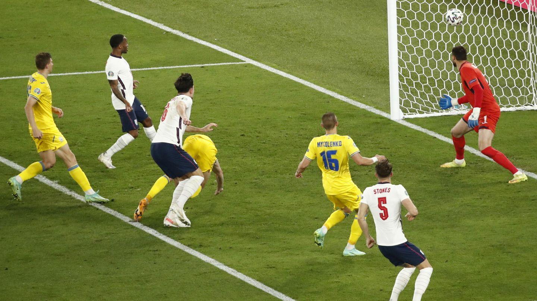 Maguire anotó el 2-0. (EFE)