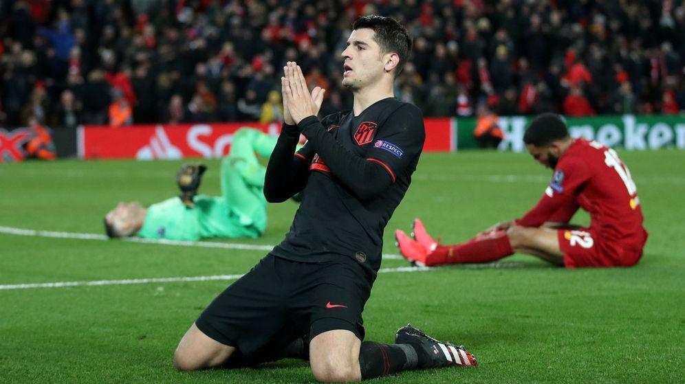Foto: Álvaro Morata celebra su gol contra el Liverpool en Champions League. (Reuters)