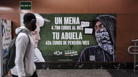 La Fiscalía de Madrid recurre el cartel de Vox contra los mena por 'discriminatorio'