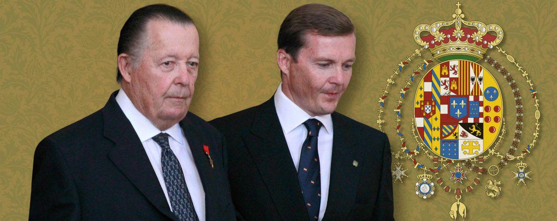 Foto: Carlos de Borbón Dos Sicilias y su hijo Pedro, en un fotomontaje de 'Vanitatis'