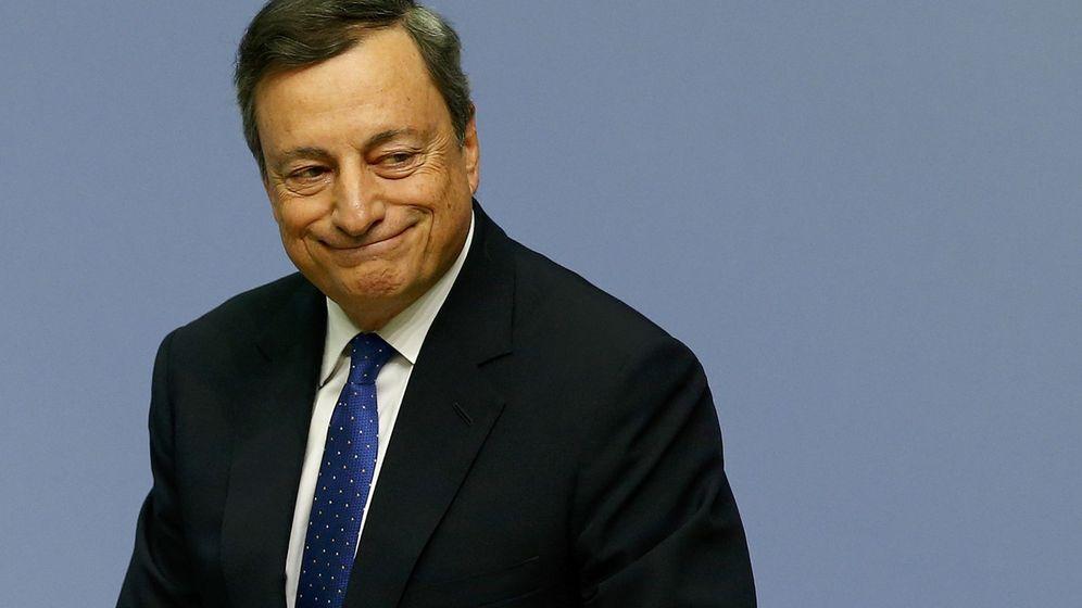 Foto: El presidente del BCE, Mario Draghi, tras su rueda de prensa