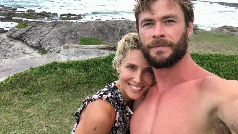 Elsa Pataky y Chris Hemsworth en una imagen de Instagram.