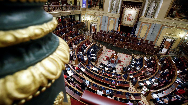 Vista del hemiciclo durante la segunda sesión del debate de moción de censura, el pasado jueves. (EFE)