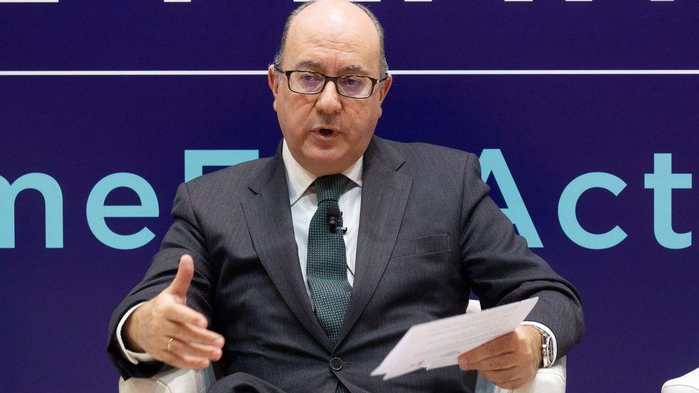 Foto: El presidente de la Asociación Española de Bancos (AEB), José María Roldán. (EFE)