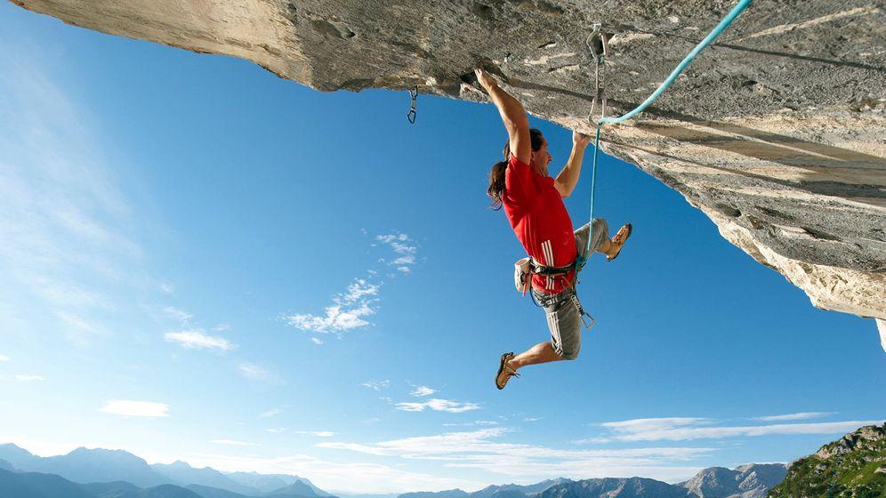 Foto: Alex Huber, el Kaiser de la escalada libre se corta la coleta
